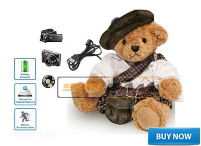 Spy Hidden Teddy Bear Secret Recording Camera In Delhi India