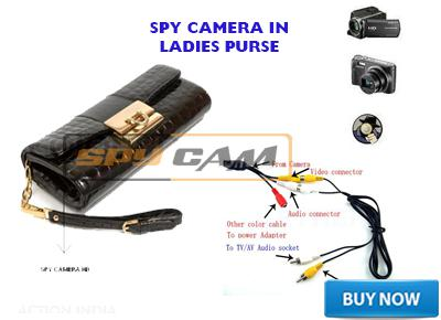 Spy Camera in Ladies Purse Long Time