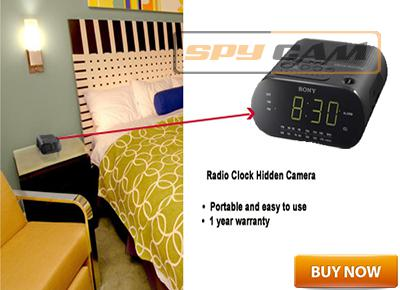Spy Hidden Camera in Sony Radio Clock In Delhi India