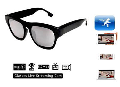 17158edca5e3 Spy Glasses Internet Live Streaming