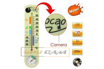 Spy Hidden Thermometer Camera