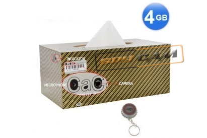 Car Tissue Paper Box Camera